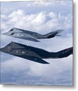 Two F-117 Nighthawk Stealth Fighters Metal Print by HIGH-G Productions