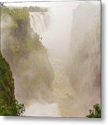 Victoria Falls In Zambia Metal Print