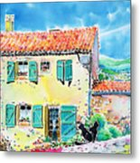View Of Luberon Metal Print