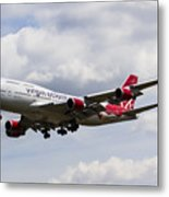 Virgin Atlantic Boeing 747 Metal Print