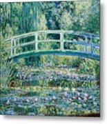 Water Lilies And Japanese Bridge Metal Print