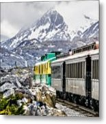 White Pass Mountains In British Columbia Metal Print