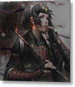 Women Warrior Metal Print