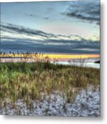 Yorktown Beach At Sunrise Metal Print