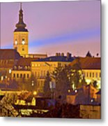 Zagreb Historic Upper Town Night View Metal Print