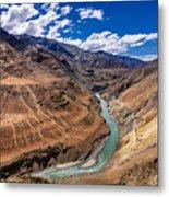 Zanskar River Ladakh Jammu And Kashmir India Metal Print