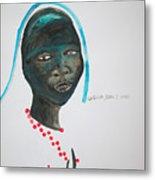 Dinka Bride - South Sudan Metal Print