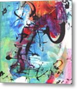 Abstract Expressionsim Art Metal Print