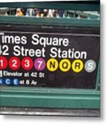 42 Street Station Nyc Metal Print