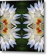 White Lotus Mandala Metal Print