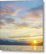 Beautiful Landscape Scenes At Lake Jocassee South Carolina Metal Print