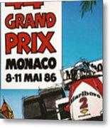 44th Monaco Grand Prix 1986 Metal Print