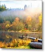 Landscape Oil Painting On Canvas Metal Print