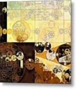 Abstract Painting - Zinnwaldite Brown Metal Print