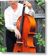 Female Cellist. Metal Print