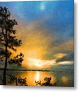 Nature Landscape Oil Painting Metal Print