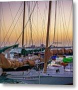 4956- Key West Harbor At Sunset Metal Print