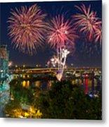 4th Of July Fireworks Metal Print