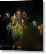 4th Of July Fireworks From The Barge Portland Oregon Metal Print