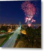 4th Of July Fireworks Portland Oregon Metal Print