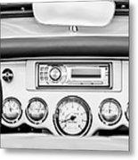 1954 Chevrolet Corvette Dashboard Metal Print