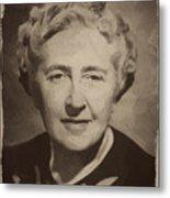 Agatha Christie 2 Metal Print