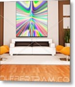 An Example Of Modern Art By Rolf Bertram In An Interior Design Setting Metal Print by Rolf Bertram