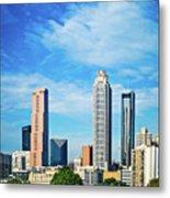 Atlanta Downtown Skyline With Blue Sky Metal Print