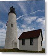 Bakers Island Lighthouse Salem Metal Print