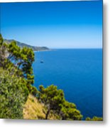 Deep Blue Sea And Golden Beaches Metal Print