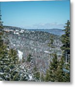 Beautiful Nature And Scenery Around Snowshoe Ski Resort In Cass  Metal Print