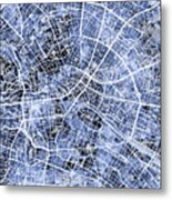 Berlin Germany City Map Metal Print