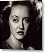 Bette Davis Vintage Hollywood Actress Metal Print