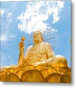 Big Golden Buddha Metal Print