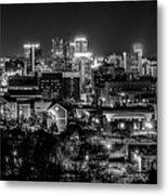 Birmingham Alabama Evening Skyline Metal Print