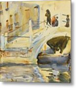 Bridge With Figures Metal Print