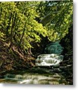 Cascadilla Gorge Falls Metal Print