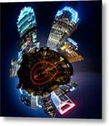 Charlotte Skyline Mini Planet Metal Print