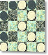Checkerboard Generated Seamless Texture Metal Print