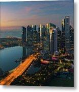 Cityscape Of Singapore City Metal Print