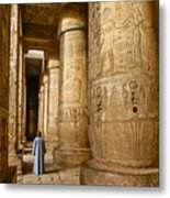 Colonnade In An Egyptian Temple Metal Print