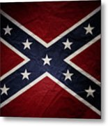 Confederate Flag 8 Metal Print