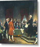 Constitutional Convention Metal Print by Granger
