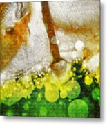 Cow With Bell Metal Print