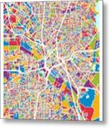 Dallas Texas City Map Metal Print