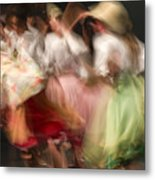 Dancers In Motion  Metal Print
