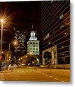 Downtown Tampa Florida Skyline At Night Metal Print
