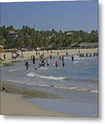 Enjoying A Day At The Beach Metal Print
