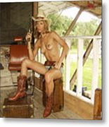 Everglades Cowgirl Metal Print