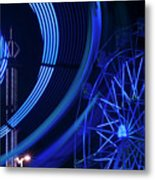 Ferris Wheel In Motion Metal Print